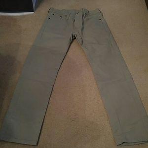 Levis 513 Khaki Denim Jeans Mens Size 30x30